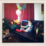A boy and his balloons